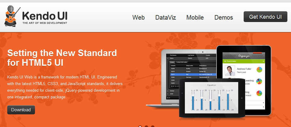 HTML5 개발자를 위한 UI전문 개발 툴 : Kendo UI