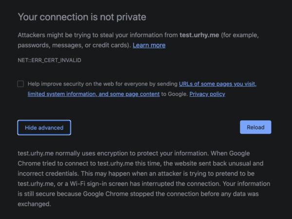 Chrome NET:ERR_CERT_INVALID 에러 – HTTPS/SSL 체크없이 실행, iterm바로가기 추가